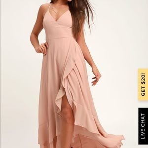 New Lulus blush maxi dress